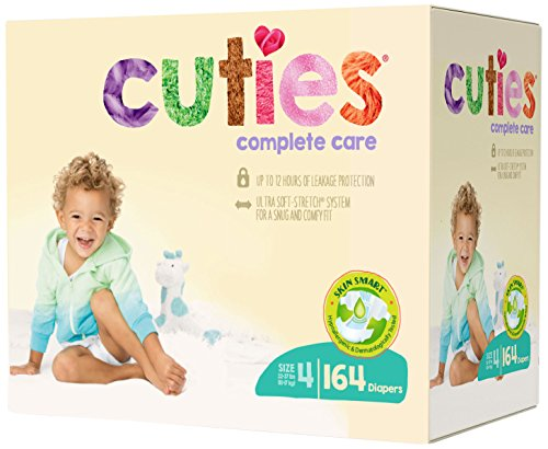 Cuties Complete Care Baby Diapers - Size 4 (164 Count)