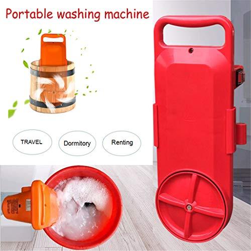 TWISFER Mobile Waschmaschinen Tragbare Kleine Handliche Waschmaschine Kompaktwaschschalter Timer Schnelle Reinigung Mini Waschmaschine - Europäischer Standardstecker (Rot)