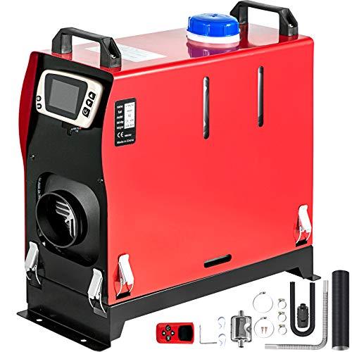 Mophorn Calentador de Diesel Meseteño12V 8KW Calentador de Aire de Diesel de Alumnio con Interruptor LCD y 1 Salida de Aire Calefación Estacionaria para Camión Furgonetas RV adaptado a las mesetas