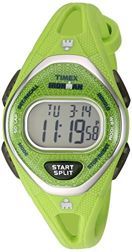 Timex Women's TW5M11000 Ironman Sleek 50 Green Silicone Strap Watch