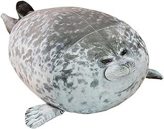 OUKEYI Bonita almohada con sello, de algodón de peluche, juguete de animales de peluche encantador Ocean Plushies cojín de abrazar animales (44,7 cm)