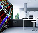 Giallobus - PAPIERS PEINTS AUTOCOLLANT - POP ART - COCA COLA - 300X220 CM