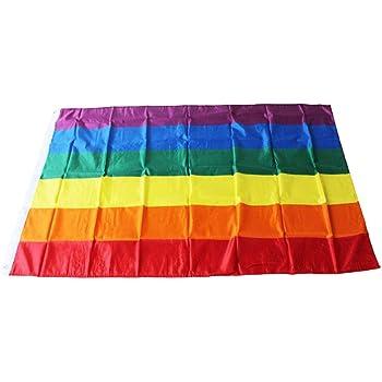 bisessuale Bandiera Arcobaleno LGBT Fablcrew Motivo Gay Lesbeen 60 x 90 cm
