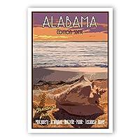 ALABAMA TRAVELポスターポストカード20枚セット 同じポストカード AL州ヴィンテージスタイル 旅行ポスターポストカード 米国製