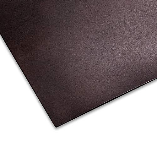 【1枚】チョコ オイル ヌメ革 姫路レザー A4 1.5mm 革 ヌメ はぎれ レザークラフト 材料 国産 タンニン鞣し