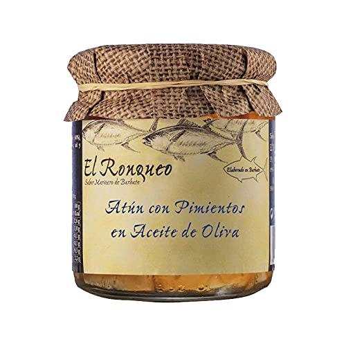 Conservering van atun met paprika in olijfolie, glas met 250 g, conserveermiddelen (1 stuk)