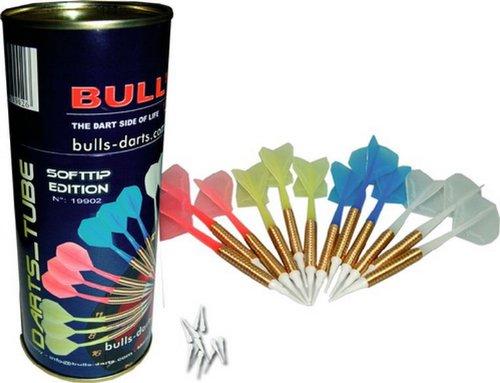 Bester der welt Bulls Darts Tube 12 Farben Soft Darts, 1 Set