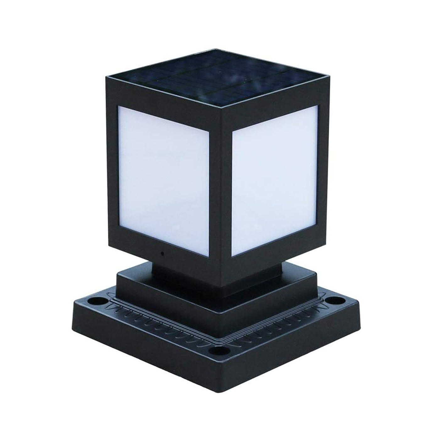 説得力のある哺乳類日IUYWLガーデンライト ソーラーコラムヘッドライト屋外ガーデンライト超高輝度LED防水ゲートライト IUYWLガーデンライト