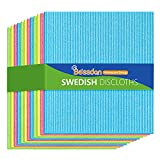 Swedish Dishcloth, 12pcs, 10 Times Absorbent Cellulose Sponge Cloth, Strong Cleaning Reusable Kitchen Cleaning Cloth, Environmental Protection Odorless Water Fast Dry Dish Cloths -Bossdan