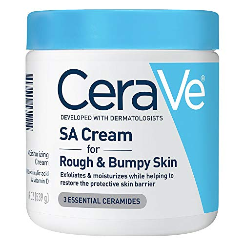 Cerave SA Cream | 19 oz | Renewing Salicylic Acid Body Cream for Rough & Bumpy Skin | Fragrance Free