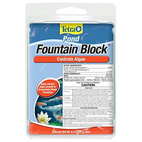 Tetra Fountain Block 6 Count, Controls Algae Growth In Ornamental Fountains