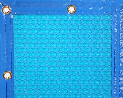 INTERNATIONAL COVER POOL Copertura Termica 400 micras GeoBubble per Piscine de 4 x10,5 Metri con Rinforzo in Larghezza