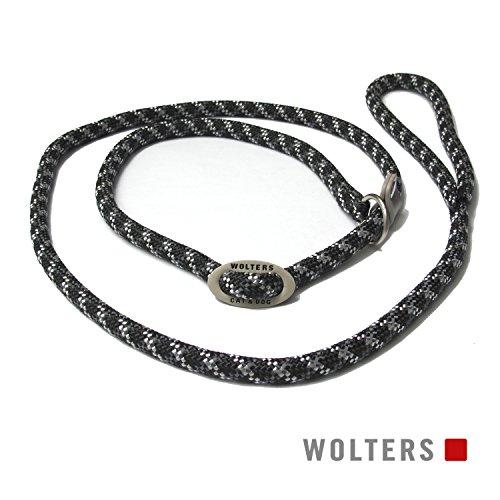 Wolters | Moxonleine Everest reflektierend in Schwarz/Graphit | L 180 cm x B 0,9 cm