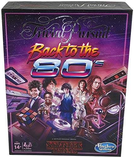 Stranger Things Hasbro Gaming Back to The 80s Trivia Game