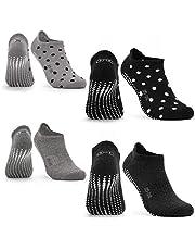 Occulto YOGA SOKKEN voor DAMES en HEREN met NUBS (2-4 PAAR), ANTI-SLIP SOKKEN voor DAMES en HEREN voor YOGA, PILATES, FITNESS
