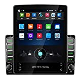 Double Din Car Stereo 9.7'' Vertical Screen Indash Android Radio 2 Din Car Multimedia Player with Bluetooth OBD2, Mirror Link, WiFi, GPS, DVR, SWC + Rear Camera
