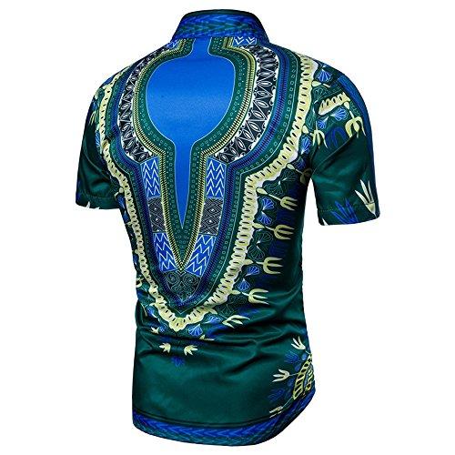 Mymyguoe Herren Kurz T-Shirt Fitness-Shirts Afrikaner Dashiki Graphic Tops Hemden für Herren Hipster-Hip-Hop Sweatshirts Pullover Poloshirts Loose Fit Fun-T-Shirts Herrenbekleidung Blouse