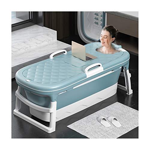 SYN-GUGAI Piscinas portátiles para niños y Mascotas Baño de PVC para niños pequeños Bañera de Lavado Bañera para bebés Piscina de Juegos para niños Piscina para Mascotas Bañera Plegable,Blue