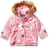Steve Madden Girls Girls' Toddler Fashion Outerwear Jacket (More Styles Available), Wool Heather Pink, 4T