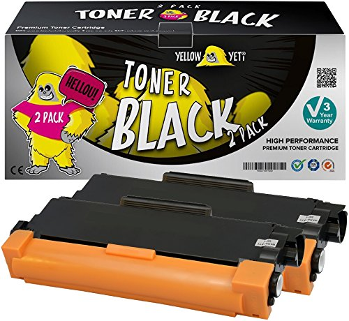 Yellow Yeti TN2320 (2600 páginas) 2X Tóner Compatible para Brother HL-L2300D HL-L2340DW HL-L2360DN HL-L2365DW DCP-L2500D DCP-L2520DW MFC-L2700DW MFC-L2720DW MFC-L2740DW [3 años de garantía]