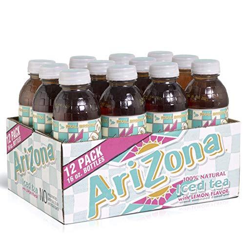 Arizona Tea, Premium Brewed Lemon Bottled Tea, 16 Ounce Bottles, Pack of 12