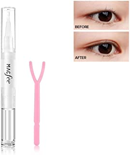 Maycreate leegoal Eyelid Glue, Waterproof Invisible Double Eyelid Tape Glue with Y Stick, Natural Eyelash Glue Clear for Girls/Women Beauty, Perfect for Hooded, Droopy, Uneven, Mono-eyelids