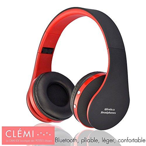 Auriculares Audio Bluetooth inalámbrico, compatible con Smartphones y ordenador–gran autonomía–plegable y Leger–Kit mano libres