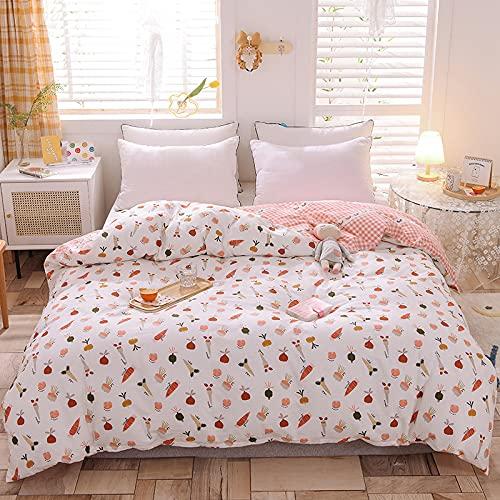ALRZ Funda de edredón de algodón para cama y lino
