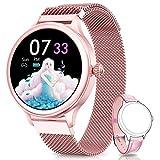 NAIXUES Smartwatch, Reloj Inteligente para Mujer, Reloj Deportivo Impermeable IP67 con Monitor de Sueño Pulsómetro...