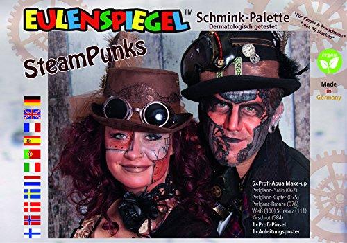 Eulenspiegel Steam Punk Schminkpalette
