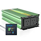 EDECOA Pure Sine Wave Power Inverter 1500W Peak 3000W DC 12V to 240V AC with Remote Controller 4.2A Dual USB Ports