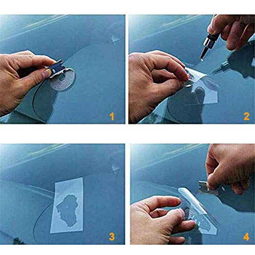 Rllyer Car Windshield Repair Resin, Car Windshield Repair Kit,Car Windshield Crack Repair Kit,Glass Corrector Set,Glass…