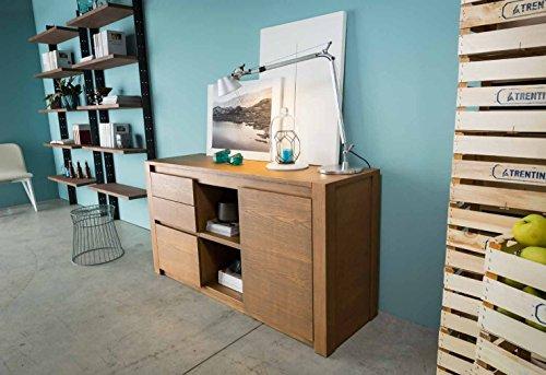 Legno&Design Como 'Buffet Commode Madia en Bois Massif à 1 Porte et 3 tiroirs