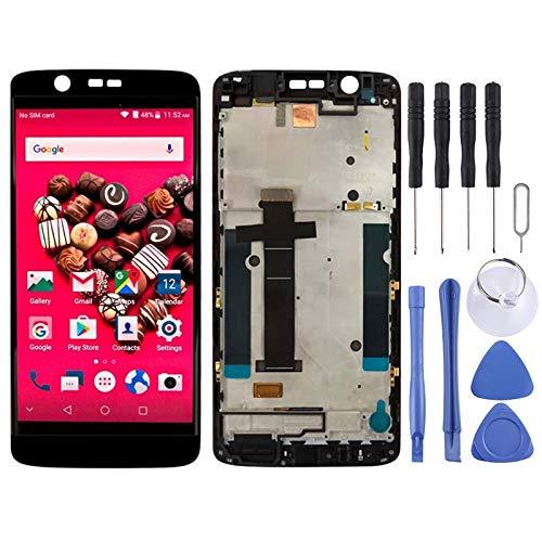 YANTAIAN Piezas de reparación de teléfonos celulares Pantalla LCD y digitalizador Asamblea con Marco Completo para ZTE Axon 7 Mini / B2017 / B2017G (Color : Black)