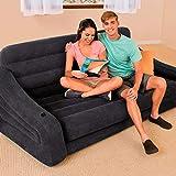 Intex Pull-Out Sofa Aufblasmöbel -  Ausziehbares Sofa -  193 x 221 x 66 cm - Schwarz - 4