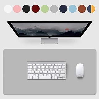 大型マウスパッド、デスクパッド 800mm * 400mm * 2mm 滑り止め 防水 汚れにくい 掃除しやすい 合皮材質 (Grey)