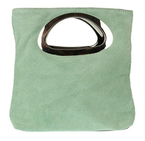 Girly HandBags - Cartera de mano para mujer azul verde menta
