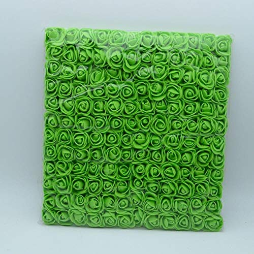 144 stks/zak pompon Foam rozen boeket voor thuis bruiloft decor Kerstkrans diy Slingers geschenken scrapbooking kunstbloemen, groen