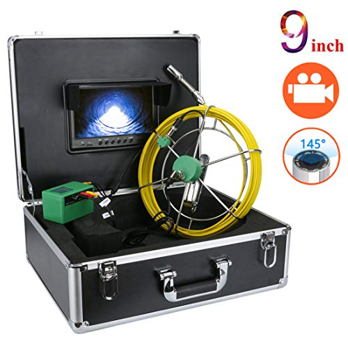 Sewer Inspection Camera, Anysun 100ft Plumbing Camera with DVR Video Pipe Inspection Equipment 9 inch LCD Monitor Sewer line Camera Snake Video System 1000TVL HD Color Duct Camera (100ft/30m-DVR)