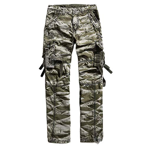 Herrenhose Camouflage Overalls Smart Casual Cotton Pants mit elastischer Taille Loose Fit Outdoor Military Style Straight Pants