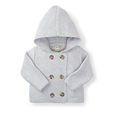 Hope & Henry Layette Grey Baby Sweater