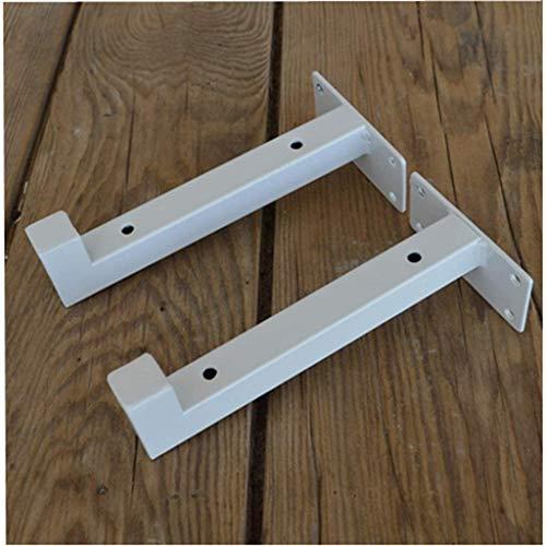 DX Shelf rek, industriële plank rek voor rustieke plank, steiger paneel, wandplank 2 stuks. (T-lip)