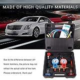 R134A HVAC A/C Kit de refrigeración AC de Manómetros Service Set Auto Car Kit Reparación de Aire Acondicionado flúor herramienta de llenado