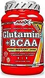 Amix - Glutamina + Bcaa - Suplemento Alimenticio - Mejora del Rendimiento - Contiene Aminoácidos Bcaa - Glutamina en Polvo - Nutrición Deportiva - Sabor a Naranja - Bote de 1 Kg