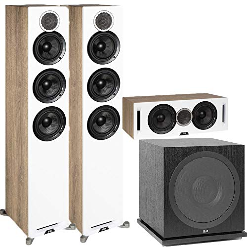 Fantastic Deal! ELAC Debut Reference DFR52 Floorstanding Speaker - Pair - White 3.1 Channel Home The...