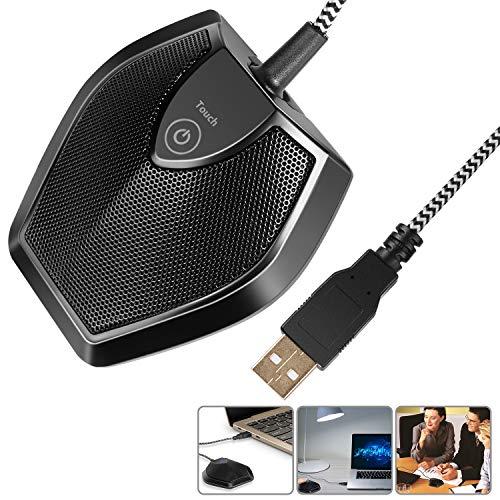 Neewer Micrófono Ordenardor Escritorio USB Sin Controlador-Botón...