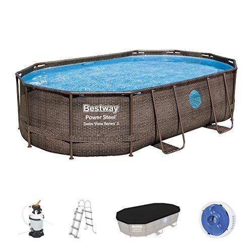 Bestway Power Steel Swim Vista Series Komplett-Set Pool, Multicolor