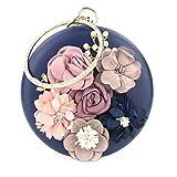 Trayosin Multi-Color Runde Handgemachte dreidimensionale Blume Strass Handschellen Damen Bankett...