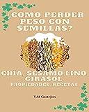 ¿Cómo perder peso con semillas?: chia, sesamo, lino, girasol, propiedades, recetas.
