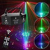 Professionelles 9-Augen-Disco-Licht, Strobe-Bühnenlicht, DJ-LED-Lichtprojektorlampe, DMX-Fernbedienung Sound-aktiviertes Licht mit Speicherfunktion für die Hochzeitsfeier der DJ Club KTV Bar,Black